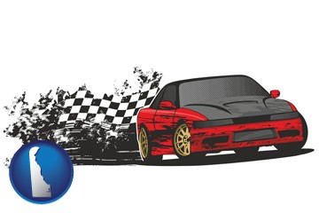 auto racing - with Delaware icon