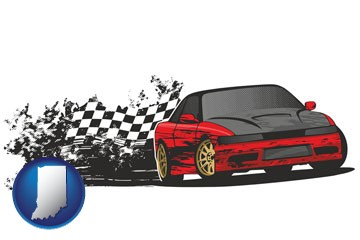 auto racing - with Indiana icon