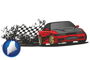 auto racing - with Maine icon