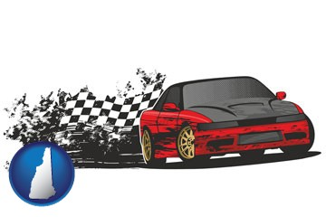 auto racing - with New Hampshire icon